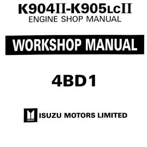 Isuzu 4bb1, 4bd1, 4bd1t Engine Workshop Service Manual
