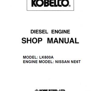 Nissan Ne6t Model Lk600a Engine Workshop Service Manual