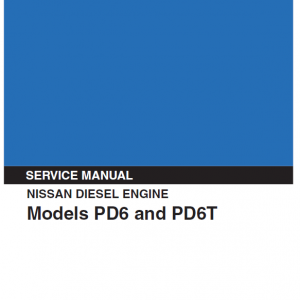 Nissan NE6T Engine Workshop Service Manual