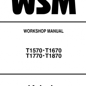 Kubota T1570 Tractor Mower Workshop Service Manual