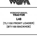 Kubota L48, TL1150, BT1100 Tractor Front Loader Workshop Manual