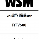 Kubota Rtv500 Utility Vehicle Workshop Service Manual