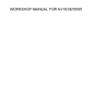 Kubota Av16, Av38, Av55, Av65 Generator Workshop Manual