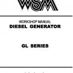 Kubota Gl Series Generator Workshop Service Manual