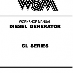 Kubota GL Series Generator Workshop Service Manual