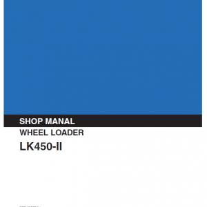 Kobelco LK450-II Wheel Loader Service Manual