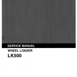 Kobelco LK500 Wheel Loader Service Manual