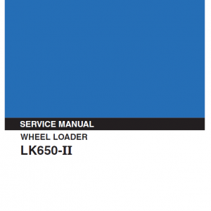 Kobelco LK650-II Wheel Loader Service Manual