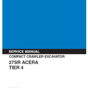 Kobelco 27SR ACERA Tier 4 Excavator Service Manual