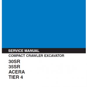 Kobelco 30SR, 35SR ACERA Tier 4 Excavator Service Manual