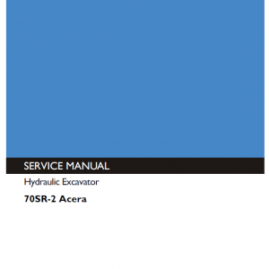Kobelco 70SR-2 ACERA Excavator Service Manual