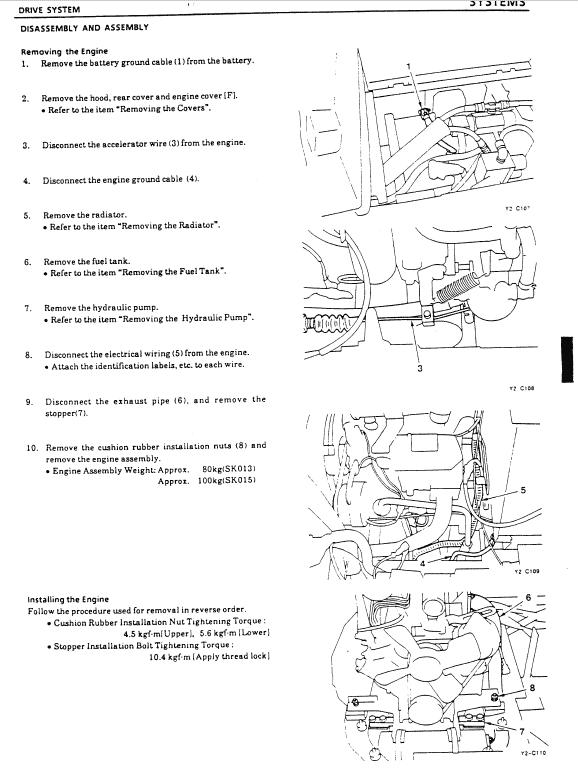 Kobelco Sk013 And Sk015 Excavator Service Manual