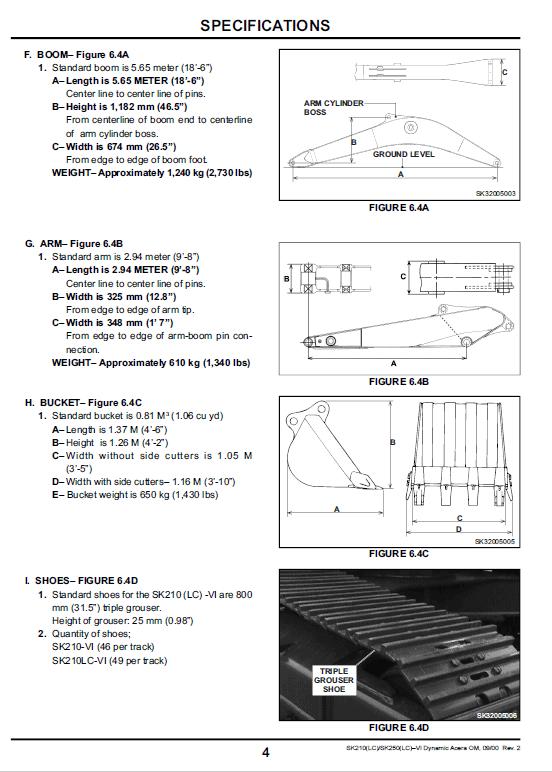 Kobelco Sk210lc, Sk250lc Excavator Service Manual