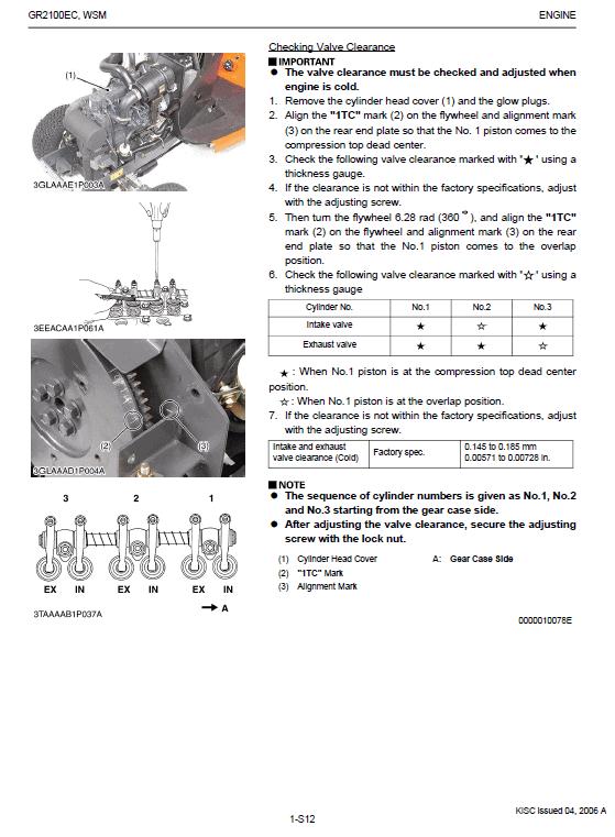 Kubota Gr2100ec Lawn Mower Workshop Manual