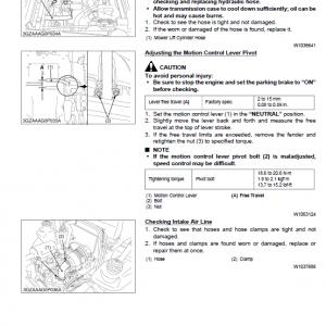 Kubota Zd321, Zd323, Zd326, Zd331 Mower Workshop Service Manual