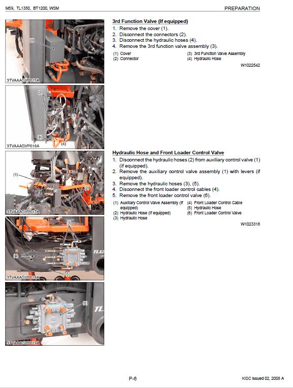 Kubota M59, Tl1350, Bt1200 Tractor Workshop Manual