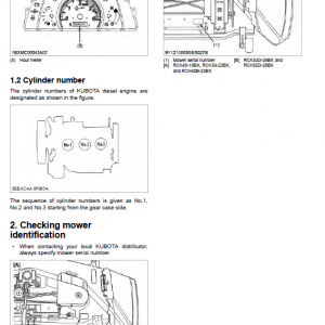 Kubota Bx1880, Bx2380, Bx2680 Tractor Loader Workshop Manual