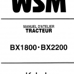 Kubota Bx1800, Bx2200 Tractor Workshop Service Manual