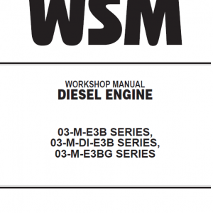 Kubota 03-M-E3B, 03-M-DI-E3B, 03-M-E3BG Workshop Manual