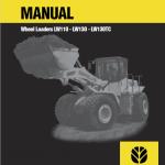 New Holland Lw110, Lw130, Lw130tc Wheel Loaders Service Manual