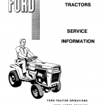 Ford 100, 120, 125, 145 Lawn Tractor Service Manual
