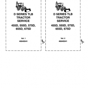 Ford 455D, 555D, 575D, 655D, 675D Backhoe Loader Service Manual