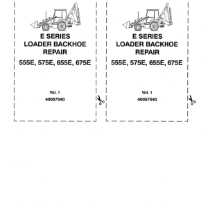 Ford 555E, 575E, 655E, 675E Backhoe Loader Service Manual