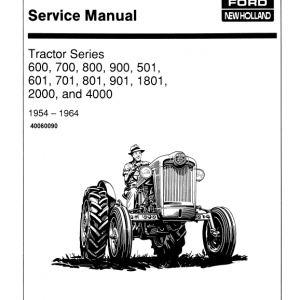Ford 900, 901, 1801, 2000, 4000 Tractor Service Manual