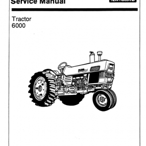 Ford 6000 Series Tractor Service Manual