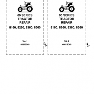 Ford 8160, 8260, 8360, 8560 Tractor Service Manual