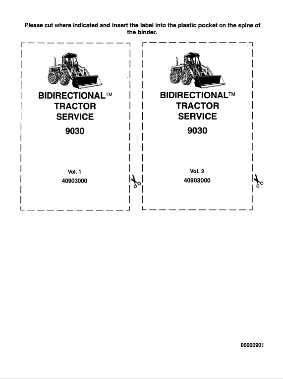 Ford Bidirectional 9030 Tractor Service Manual