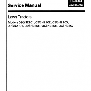 Ford Lt8, Lt11 Mower Tractor Service Manual