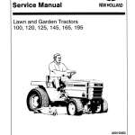 Ford 100, 120, 125, 145, 165, 195, 165, 195 Lawn Tractor Service Manual