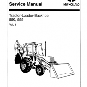 Ford 550 And 555 Backhoe Loader Service Manual