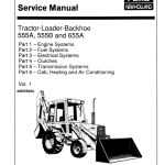 Ford 555a, 555b And 655a Backhoe Loader Service Manual