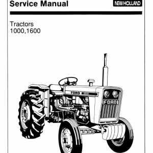 Ford 1000 And 1600 Tractors Service Manual