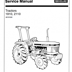 Ford 1910 And 2110 Tractors Services Manual