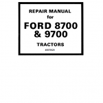 Ford 8700 and 9700 Tractor Service Manual