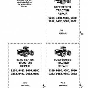 Ford 9280, 9480, 9680 And 9880 Tractor Service Manual