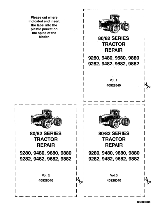 Ford 9282, 9482, 9682 and 9882 Tractor Service Manual