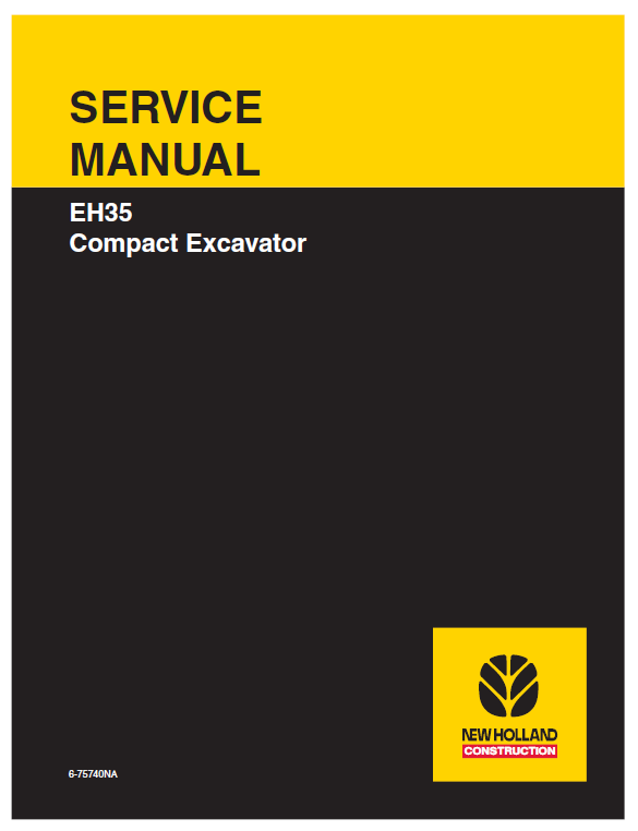 New Holland EH35 Compact Excavator Service Manual