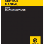New Holland EH215 Crawler Excavator Service Manual