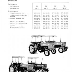 Fiat 466, 566, 666, 766 Tractor Workshop Service Manual