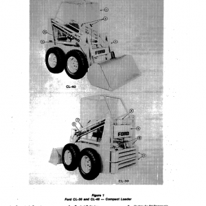 Ford Cl-30, Cl-40 Compact Loader Service Manual