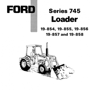 Ford 744 And 745 Loader Service Manual