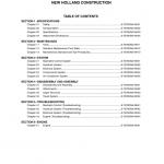 New Holland Eh215 Crawler Excavator Service Manual