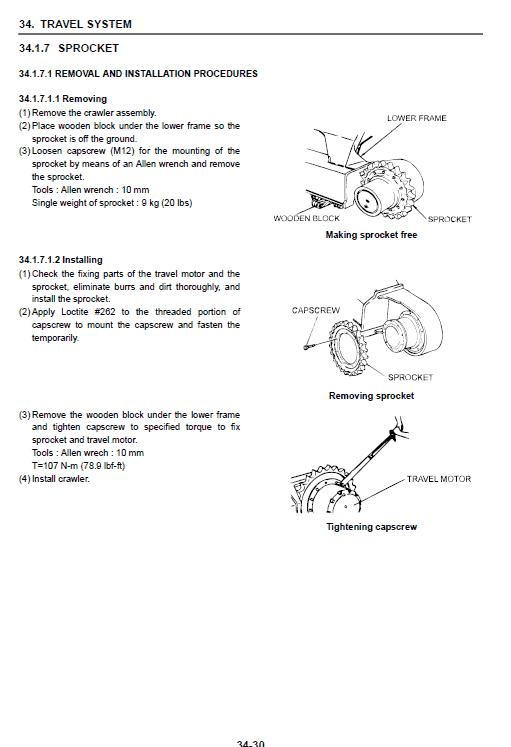 New Holland E30b And E35b Compact Excavator Service Manual