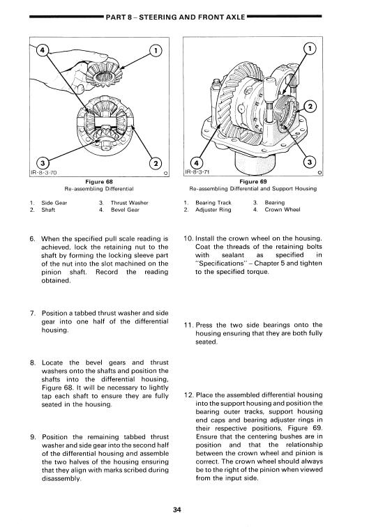 Ford 345c, 445c, 545c Backhoe Loader Tractor Service Manual