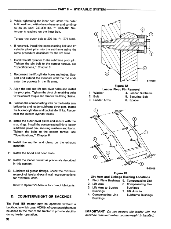 Ford 455 Backhoe Loader Service Manual