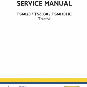 New Holland Ts6000, Ts6020, Ts6030, Ts6030hc, Ts6040 Tractors Service Manual